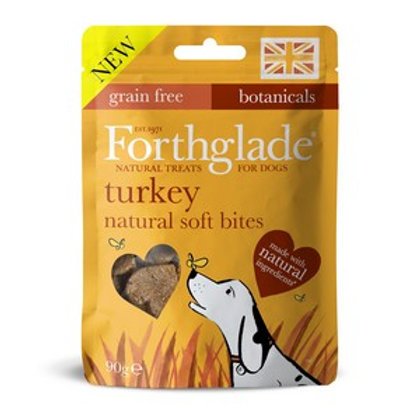 Forthglade Soft Bites Treats Turkey Grain Free 90g