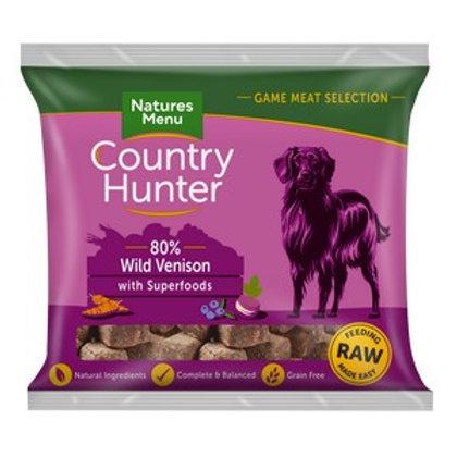 Natures Menu Frozen Country Hunter Venison Dog Nuggets 1kg