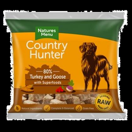 Natures Menu Frozen Country Hunter Turkey & Goose Dog Nuggets 1kg