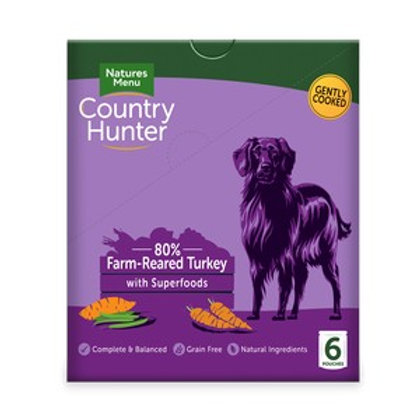 Natures Menu Country Hunter Dog Pouch Turkey (6 Pack)
