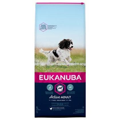 Eukanuba Active Adult Medium Breed Chicken 12kg