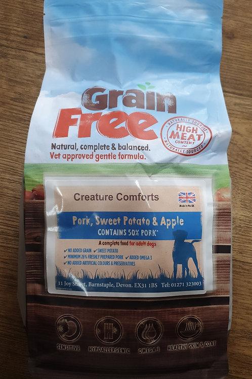Grain Free 50% Pork, Sweet Potato & Apple