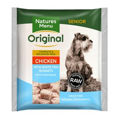 Natures Menu Frozen Nuggets Senior Chkn and Fish 1kg