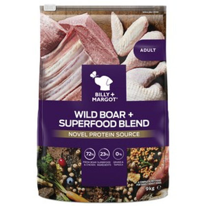 Billy and Margot Wild Boar Superfood Dry Dog Food 9kg