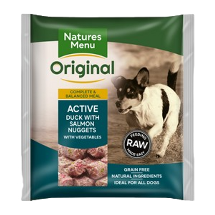 Natures Menu Frozen Nuggets Active 1kg