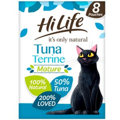 HiLife Its Only Natural Pouch Mature Tuna Terrine 8 Pack 70g