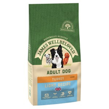 Wellbeloved Turkey and Rice Light Kibble 1.5kg
