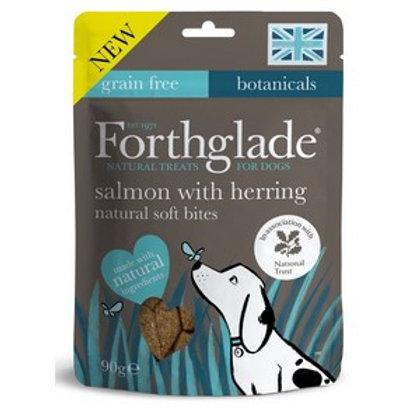 Forthglade Soft Bites Treats Salmon & Herring 90g