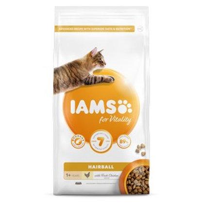 Iams Vitality Adult Cat Food Hairball Chicken 2kg