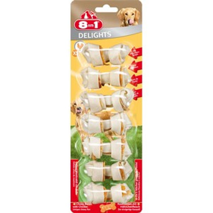8 In 1 Delights Chicken Bone Extra Small