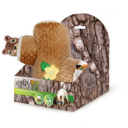All For Paws Dig It Tree Trunk Burrow With 2 Cute Toys