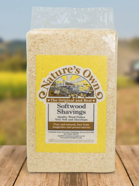 Nature's Own Softwood Shavings 3.2kg
