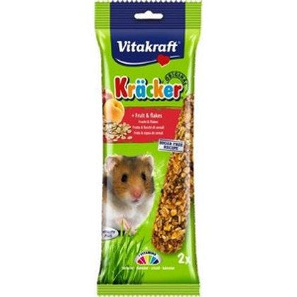 Vitakraft Kracker Fruit Flakes Hamster - Twin Pack