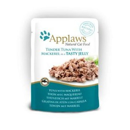 Applaws Cat Pouch Tuna Meat and Mackerel In Jelly 70g