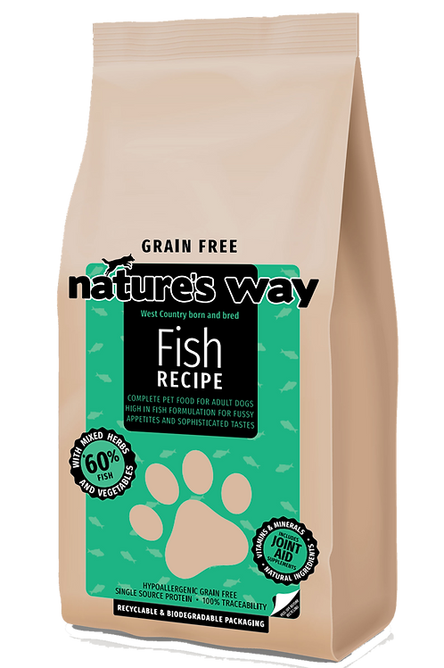 10kg Nature's Way GRAIN FREE Fish Recipe