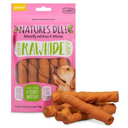 Natures Deli Smoked Hide Twist & Peanut Butter 5pack