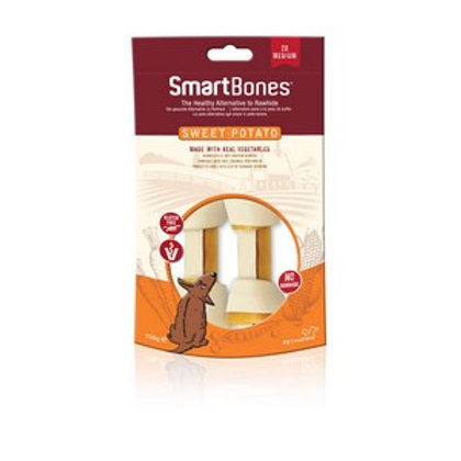 SmartBones Sweet Potato Medium Bones (2 Pack)