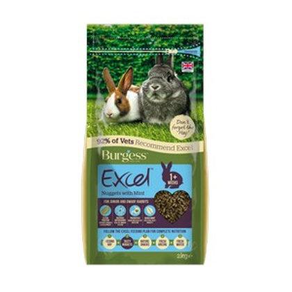 Burgess Excel Junior Dwarf Rabbit Nuggets with Mint 2kg