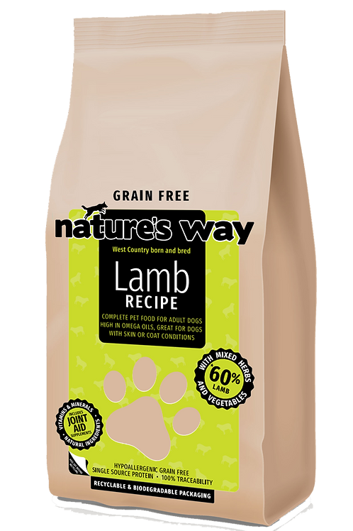 10kg Nature's Way GRAIN FREE Lamb Recipe