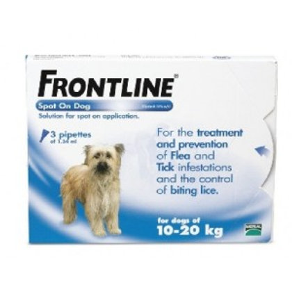 Frontline Spot On Medium Dog 10-20kg (3 Pipettes)