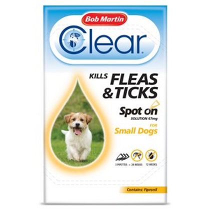 Flea Clear Spot On for Small Dogs (3 Pipettes)
