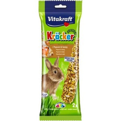 Vitakraft Kracker Rabbit Popcorn Honey - Twin Pack