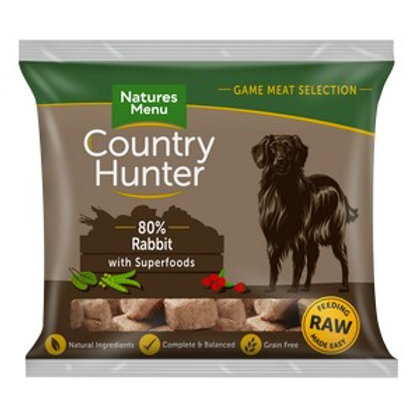 Natures Menu Frozen Country Hunter Rabbit Dog Nuggets 1kg
