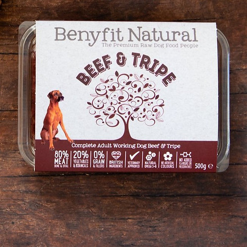 Benyfit Beef & Tripe  - 500g