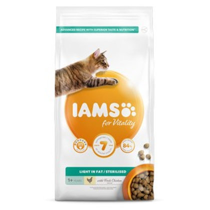 Iams Vitality Adult Cat Food Light Chicken 2kg