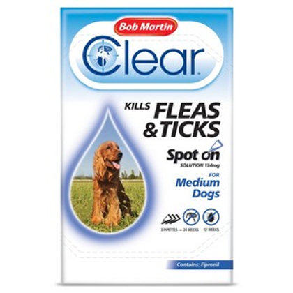 Flea Clear Spot On for Medium Dogs (3 Pipettes)