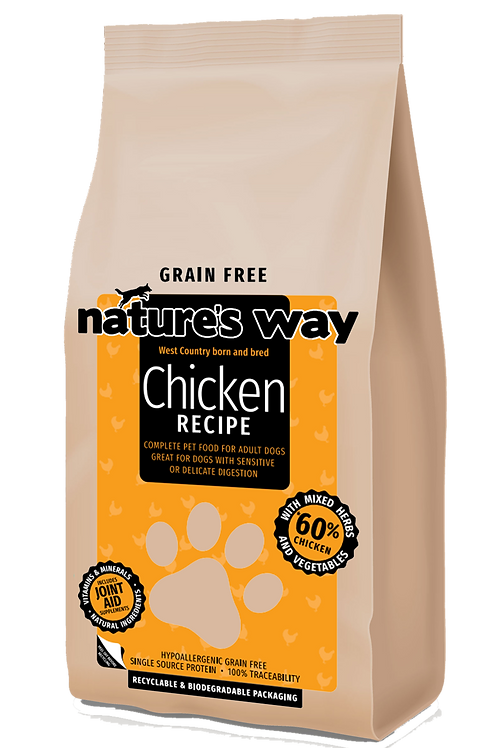 10kg Nature's Way GRAIN FREE Chicken Recipe