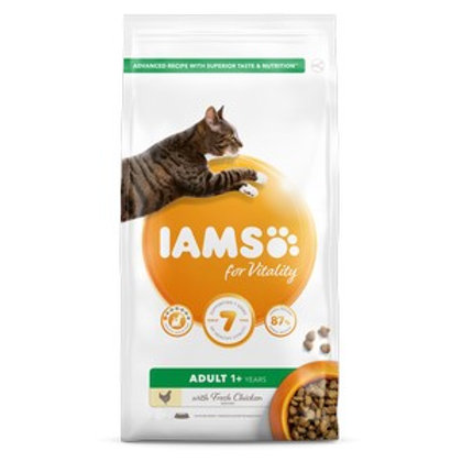 Iams Vitality Adult Cat Food Chicken 2kg