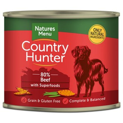 Natures Menu Country Hunter Dog Grass Fed Beef 600g