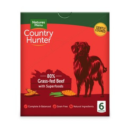 Natures Menu Country Hunter Dog Pouch Beef (6 Pack)