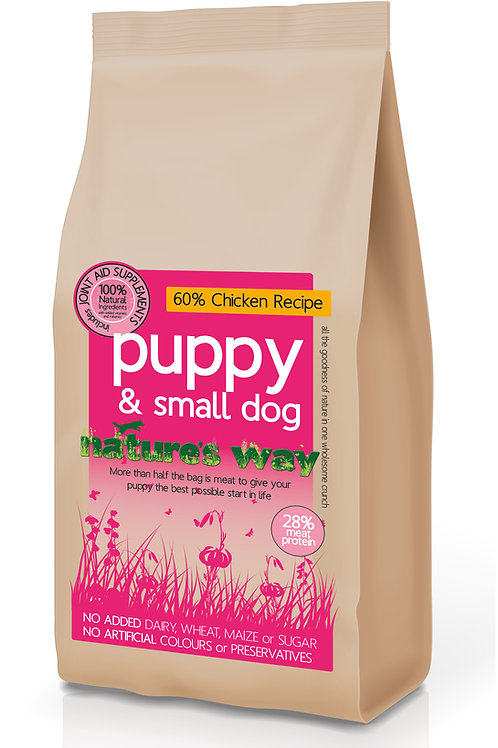 Nature's Way 60% Chicken Puppy & Small Dog Recipe 12kg