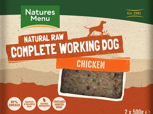 Natures Menu Working Dog Chicken- 2 x 500g