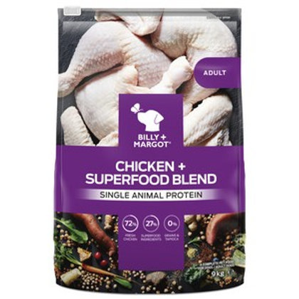 Billy and Margot Chicken Superfood Dry Dog Food 9kg