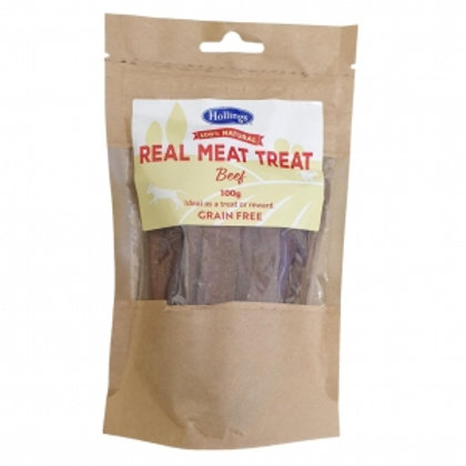 Hollings Real Meat Treat Beef 100gm (Grain Free)