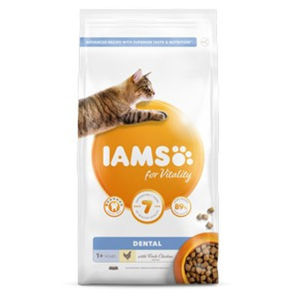 Iams Vitality Adult Cat Food Dental Chicken 2kg