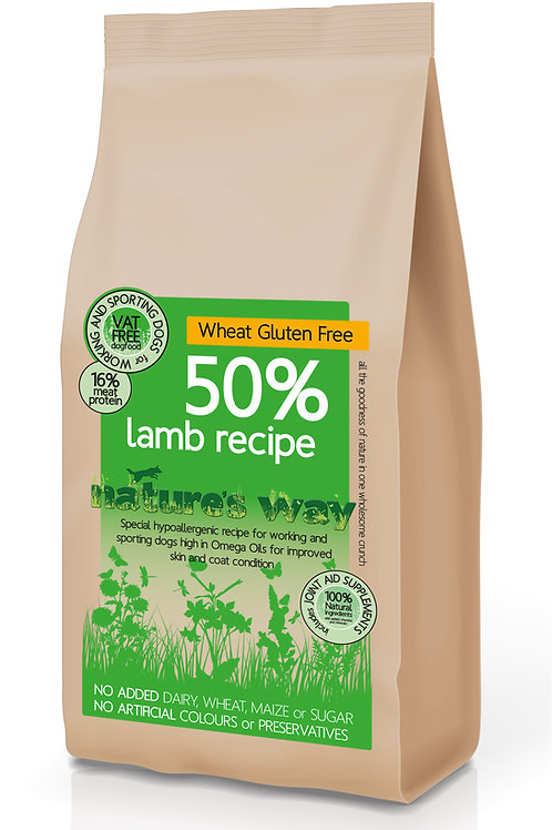 Nature's Way 50% Lamb & Brown Rice Recipe 12kg