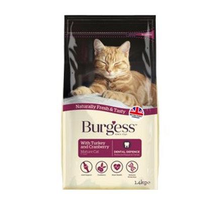 Burgess Mature Cat rich in Turkey & Cranberry 1.5kg