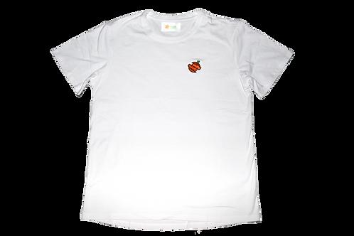 embroidered cartoon logo shirt