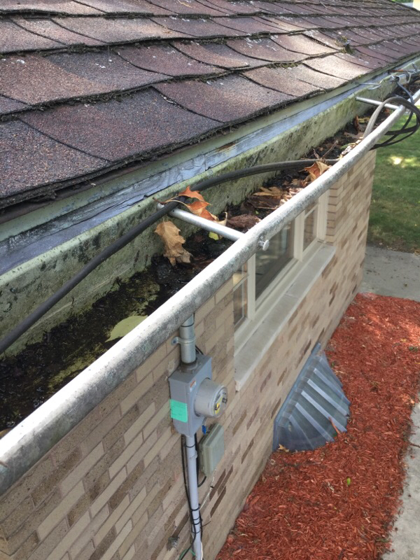 Gutters Installed with Nail and Ferrul