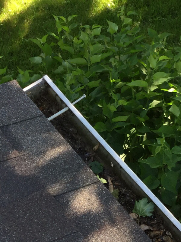 Nail Pulled Loose From Gutter