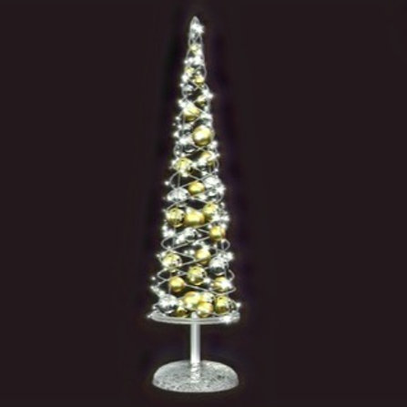 White Powder Coated Cone Struct Tree with 2.3