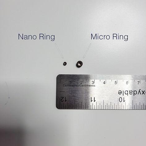 bond size of nano ring vs micro ring