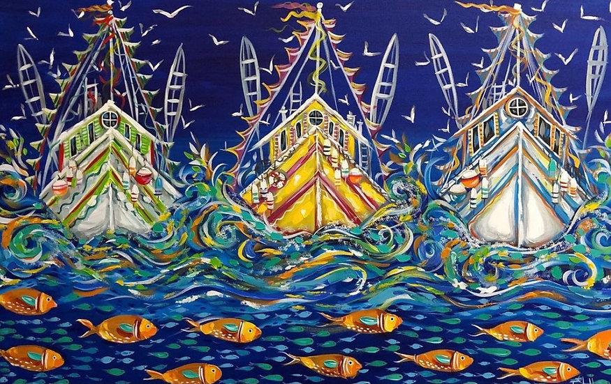 Seas the Day | Acrylic | 36 x 48