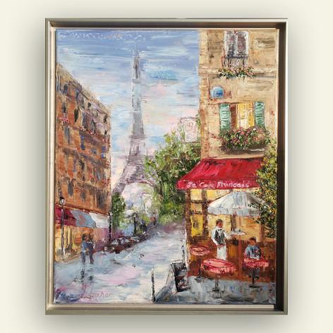 Le Cafe Francais   Oil   20 x 16