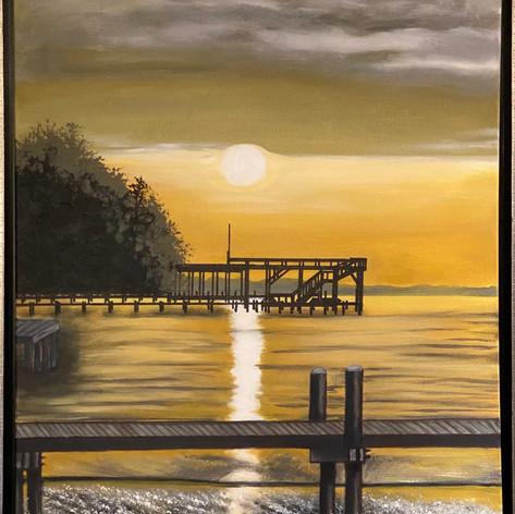 331 Bay Sunset   Acrylic   24 x 20
