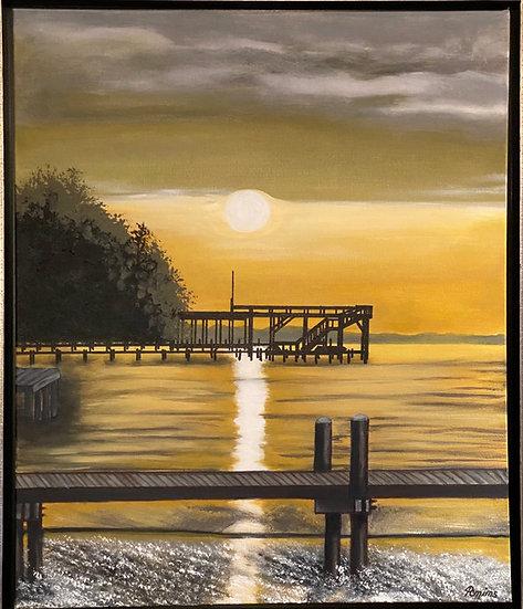 331 Bay Sunset | Acrylic | 24 x 20